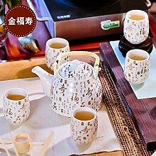 CUPWENH Kaffee Set Home Teekanne Keramik