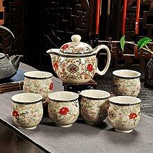 CUPWENH Kaffee Set Keramik Ruhenden Doppel Tasse