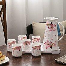 CUPWENH Keramik, Glas, Wasser, Familie Größe