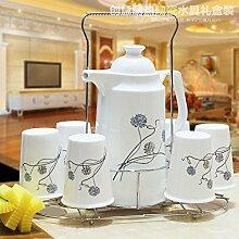 CUPWENH Keramik Teekanne Tee Tasse Tasse Shuiju
