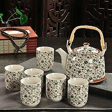 CUPWENH Keramische Filter Kit Porzellan Teekannen Becher Bezeichnet Herr Leung Kit Teekocher Tea Service, Coffee Se
