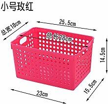 CUPWENH Kitchen Storage Basket, Plastic Bathroom