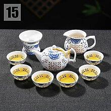CUPWENH Kreative Chinesische Keramik Blau Und