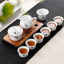 CUPWENH Kung Fu Hustle Kaffee Setzt Hohe Weiße