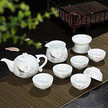 CUPWENH Kung Fu Tee-Set Lotus Chinesisches