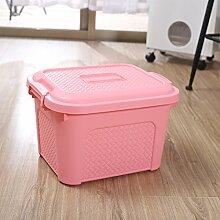 CUPWENH Portable Storage Case, Kinder Spielzeug, Kleidung, Kleine Plastik Unterwäsche Fall, Mittlerer Gurt Kappe, Rosa