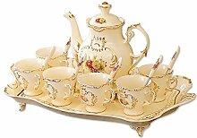 CUPWENH Porzellan Teetassen Kaffee Tasse Kit