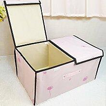 CUPWENH Speicher-Box/Lagerung Tasche Doppelklicken Tür Eintritt Bei Textilien Bekleidung Non Woven Aufbewahrungsbox Hausmüll, Kisten, Rosa Kai (Wasser), Das Zweiteilige