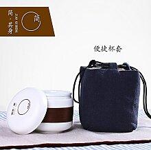 CUPWENH Töpfer Einen Krug Mit Einer Tasse Keramik Kung Fu Becher Home Portable Kaffee Kit Tea Service, Coffee Se