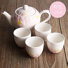 CUPWENH Wohnzimmer, Keramik Tee, Tasse, Haushalt Kaffee Tasse, Wasserkocher, Kaffeekanne, B,Tea Service, Coffee Se