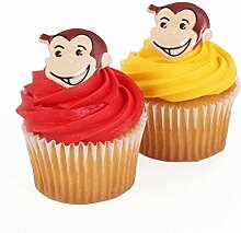 Curious George 24 Cupcake Topper Rings by Bakery