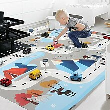 Currentiz Spielteppich Kinder Autoteppich