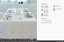 Curt Bauer Tischwäsche Tischdecken Dessin 1514 Gent, Weiß mit Hohlsaum 130 x 250 cm