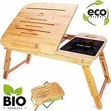CURVAN Laptoptisch Bambus Betttisch Beistelltisch