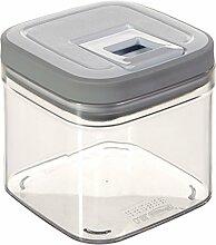 Curver 03030-739-01 Frischhaltebox Grand Chef Cube, 0,8 L, transparent / weiß / hellgrau