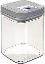 Curver 03031-739-01 Frischhaltebox Grand Chef Cube, 1,3 L, transparent / weiß / hellgrau