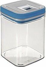 Curver 03031-986-01 Frischhaltebox Grand Chef Cube, 1,3 L, transparent / weiß / hellblau