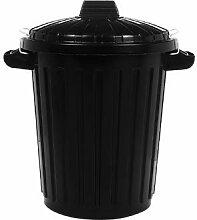 CURVER 70L schwarz Kunststoff Mülleimer und Deckel
