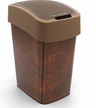Curver Abfallbehälter 25L Flip Bin Leather Design