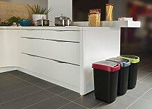 Curver Abfallbehälter Mülleimer Flip Bin, 10 L