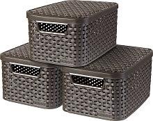 Curver Aufbewahrungsbox Style Box S (Set, 3