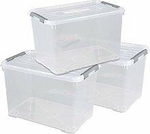 CURVER Handy + Aufbewahrungsboxen-Set, Kunststoff,