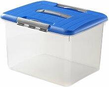 CURVER Optima Transport-Box m.Deckel blau