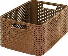 Curver Style 208615 Storage Box Rattan-Look Size L