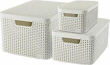 CURVER Style Aufbewahrungsbox-Set, Kunststoff,