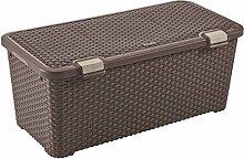 CURVER Style Box 72L Truhe, Plastik, braun, 79 x