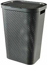CURVER Wäschekorb Infinity Dots recycelt, 60 l