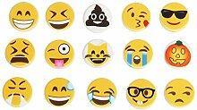 Cusfull 15 Pack Emoji Symbole für Filz Letter