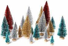 Cusfull 26 x Mini Weihnachtsbaum Tannenbaum mit