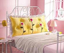 CUSHION Bedside Back/Fluff Waschbar Kissen/Doppelbett Kissen/Childs Kissen (Farbe : C, Größe : 145*68cm)