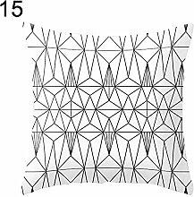 Cushion Cover - 45cm Fashion Modern Black And
