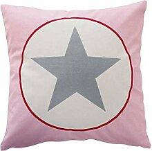 Cushion cover, Pink big star 50 x 50 [A]