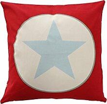 Cushion cover, Red big star 50x50 cm