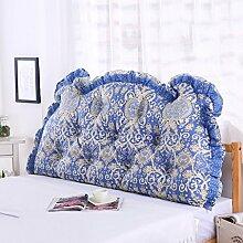 CUSHION MEILING Bedside Kissen Double Back Kissen Sofa Rückenlehne Triangle Lange Soft Bett Bett Kissen Baumwolle Taille (Farbe : 1, größe : 1.5m)