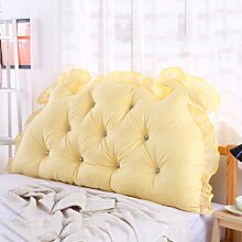 CUSHION MEILING Bedside Kissen Double Back Kissen Sofa Rückenlehne Triangle Lange Soft Bett Bett Kissen Baumwolle Taille (Farbe : 2, größe : 1.35m)