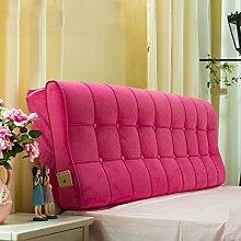 Cushion pillowXF Xufei Bett Kissen Big Back Einfach und Modern (Farbe : D, Größe : 1.2m)