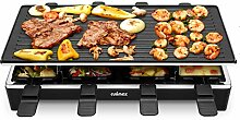 Cusimax Raclette Grill mit Reversible Grillpfanne,