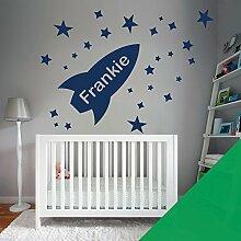 Custom–Wandtattoo für Kinder Schlafzimmer–Rocket, Sterne, Name–nur Nachricht uns mit der Name. - Medium (580x290mm) Kaktus