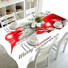 Custom 3D-Tischdecken exquisites Weihnachtsgeschenk Muster wasserdicht Tuch verdickte Polyester verdicken Kaffee Tisch rechteckig Hochzeit Tischdecken Abdeckung Heimtextilien, A, 90 cm x 90 cm
