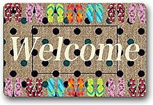 Custom Colorful Space Logo Fußmatte Welcome Mat