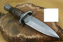 Custom Damast Bowie Messer Jagdmesser Mit