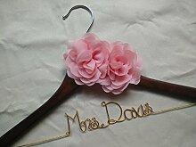 Custom Hochzeit Kleiderbügel, personalisierbar, Brautschmuck Kleiderbügel, Single Line Draht Name Kleiderbügel Sommertage, mit Kleiderbügel, Mutter Kleiderbügel, Flower Girl