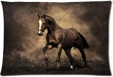 Custom Horse Pillowcase Standard Size Design Cotton Pillow Case