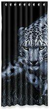 """Custom Leopard Print Polyester-Lichtdicht-Fenster Vorhang für Schlafzimmer oder Wohnzimmer einem Stück, 127x 274,3cm Zoll über 127cm x 275cm, Polyurethan, e, 50""""""""x108"""