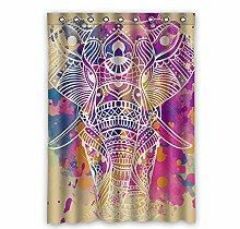 """Custom Polyester-Elefant lichtgeschützten-Fenster Vorhang für Schlafzimmer oder Wohnzimmer einem Stück, 132,1x 182,9cm Zoll über 132cm x 183cm, Polyurethan, a, 52""""""""x72"""