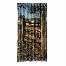 """Custom Polyester-Holz lichtgeschützten-Fenster Vorhang für Schlafzimmer oder Wohnzimmer einem Stück, 127x 243,8cm Zoll über 127cm x 244cm, Polyurethan, a, 50""""""""x96"""